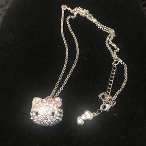 Hello Kitty / Sanrio / Vintage Rhinestone Necklace